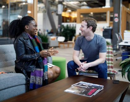 Mark Zuckerberg and FIN Founder Lola Omolola