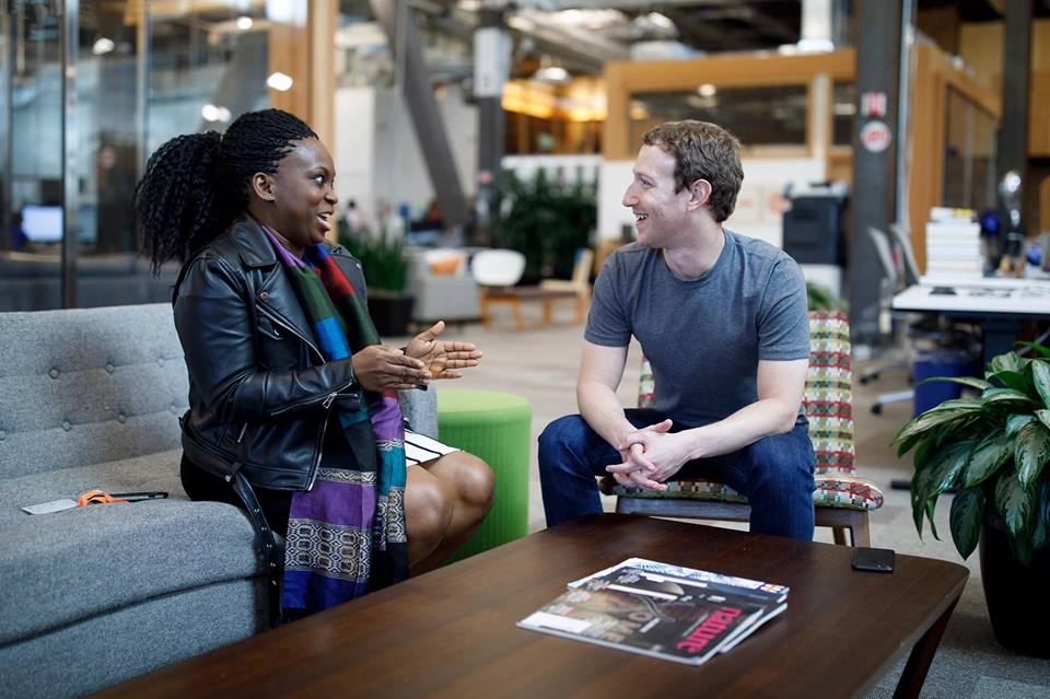 Facebook Founder meets founder of Nigerian female Facebook group