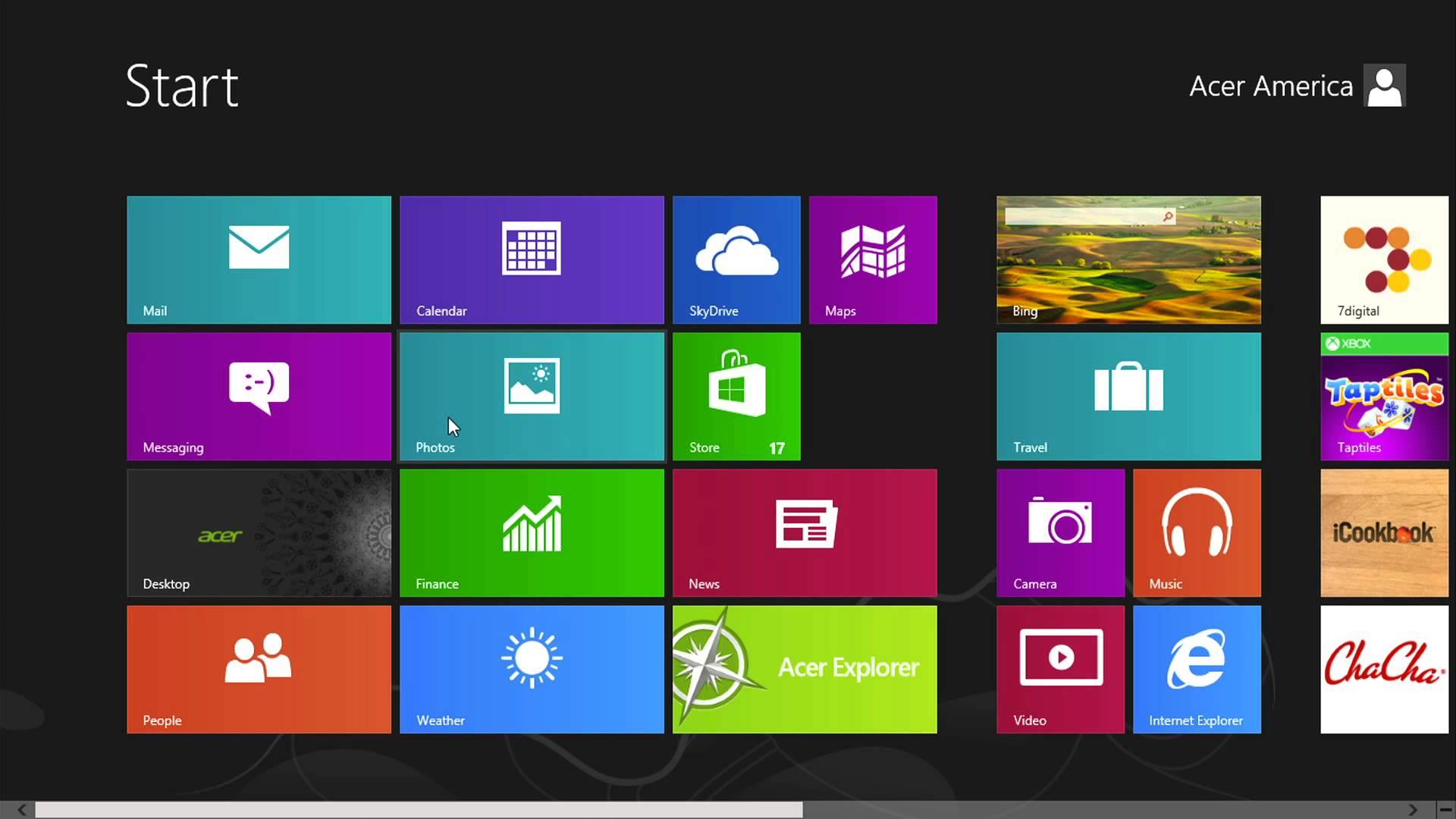 Window 8 Screenshot
